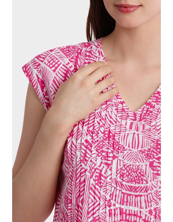 Short Sleeve Scroll Print Dress image 4