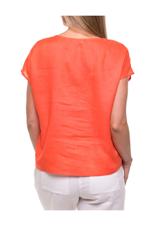 Yarra Trail Petites - Short Sleeve Tuck Front Top