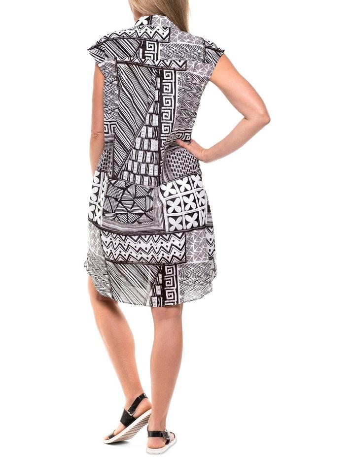 Montage Print Shirt Dress image 2