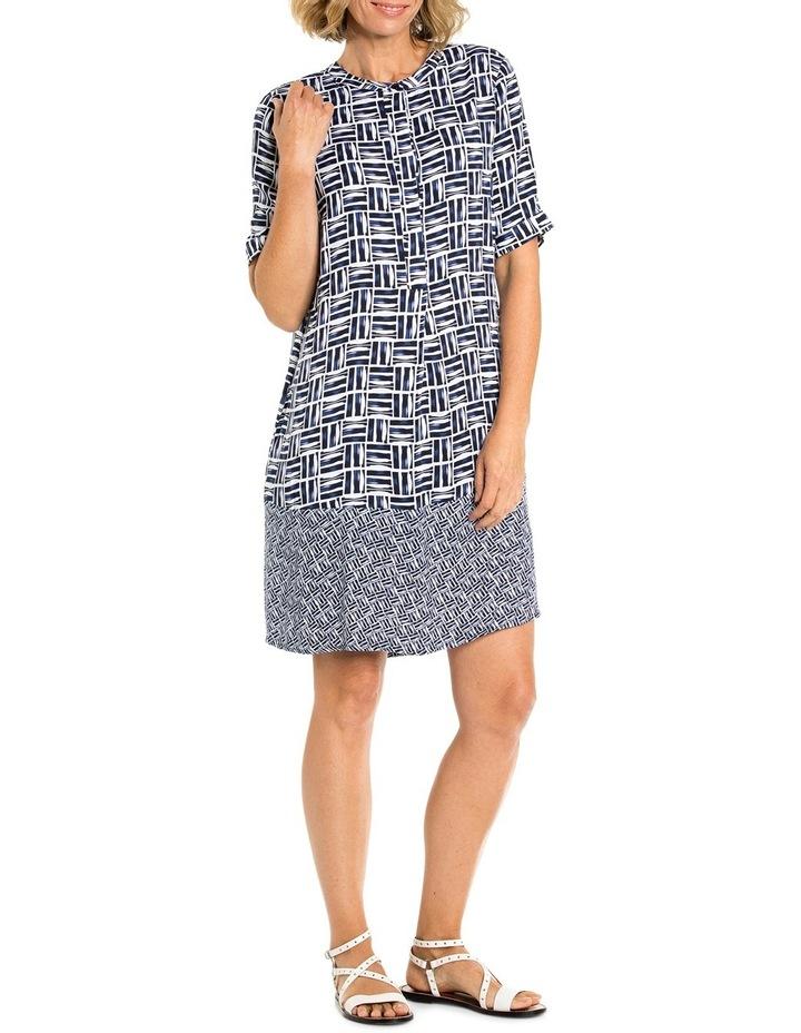 Shortsleeve Crosshatch Print Dress image 1