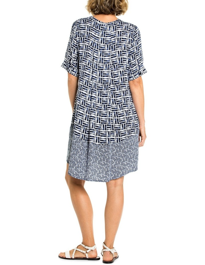 Shortsleeve Crosshatch Print Dress image 2
