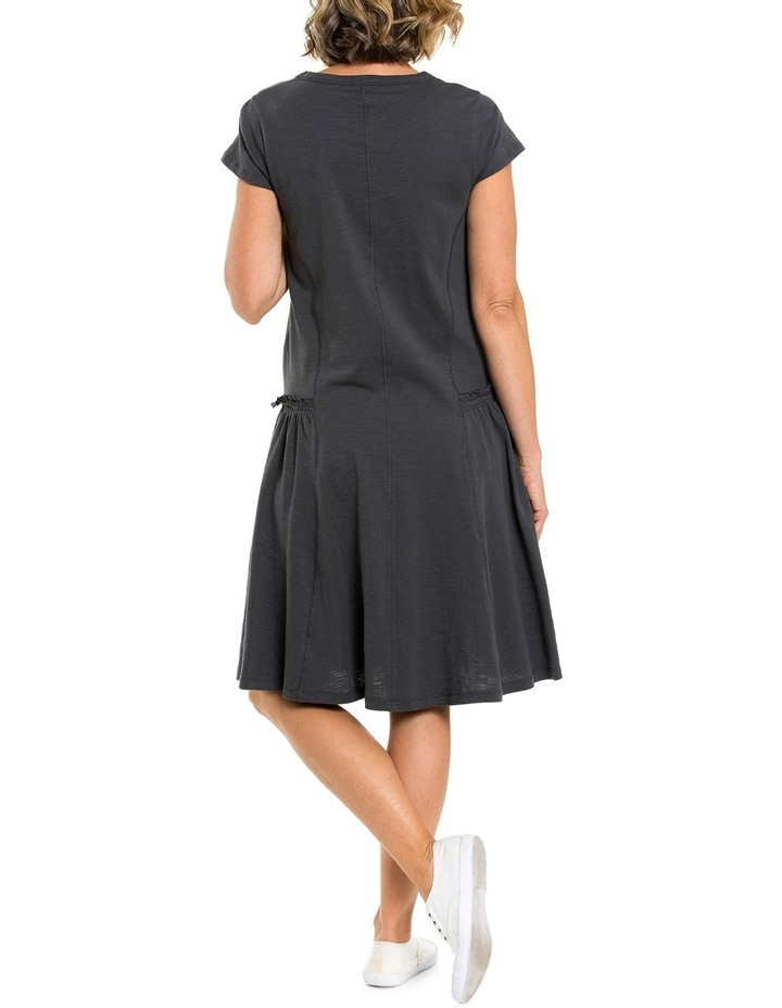 Shortsleeve Panelled Jersey Dress image 2