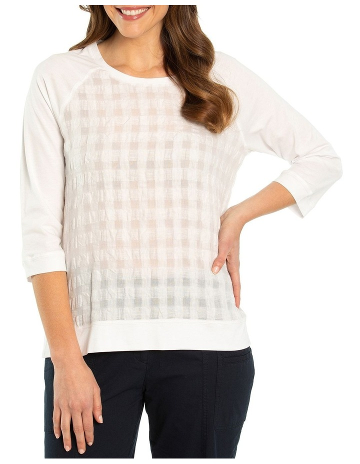 Spliced Textured Linen Top image 1