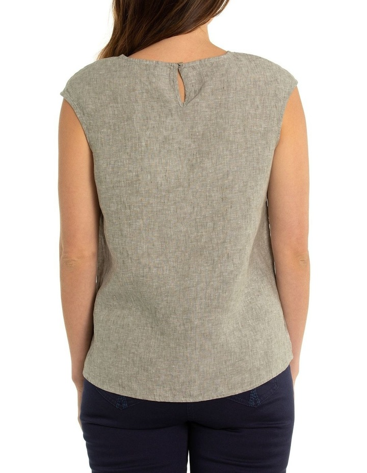 Sleeveless Linen Panel Top image 2