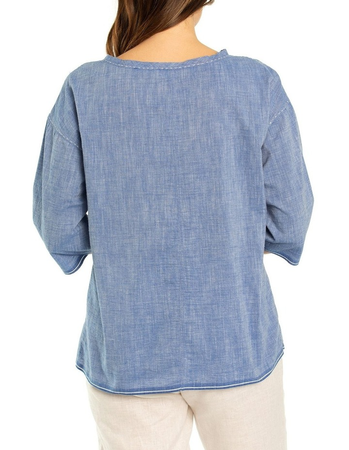 Stitched Chambray Top image 2