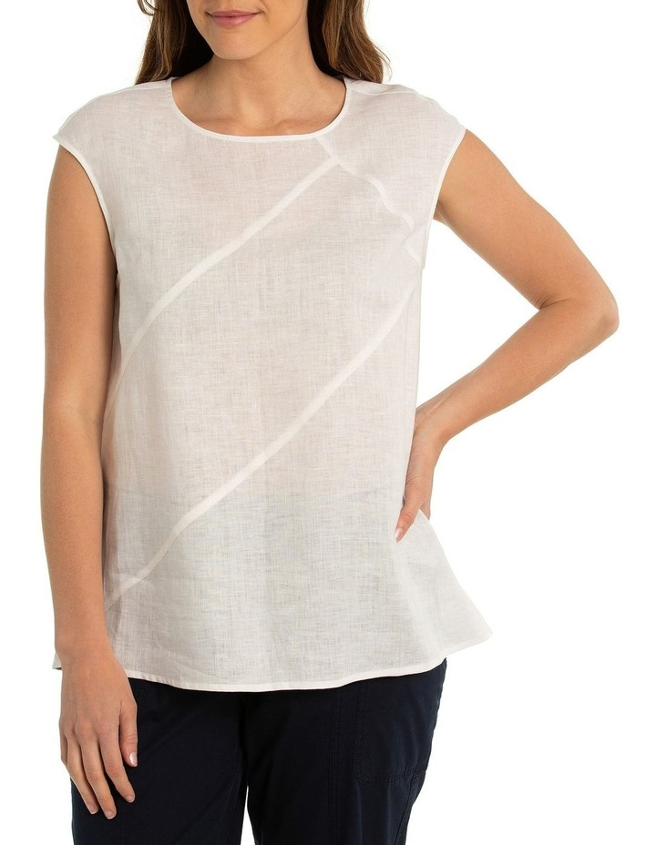 Sleeveless Linen Panel Top image 1