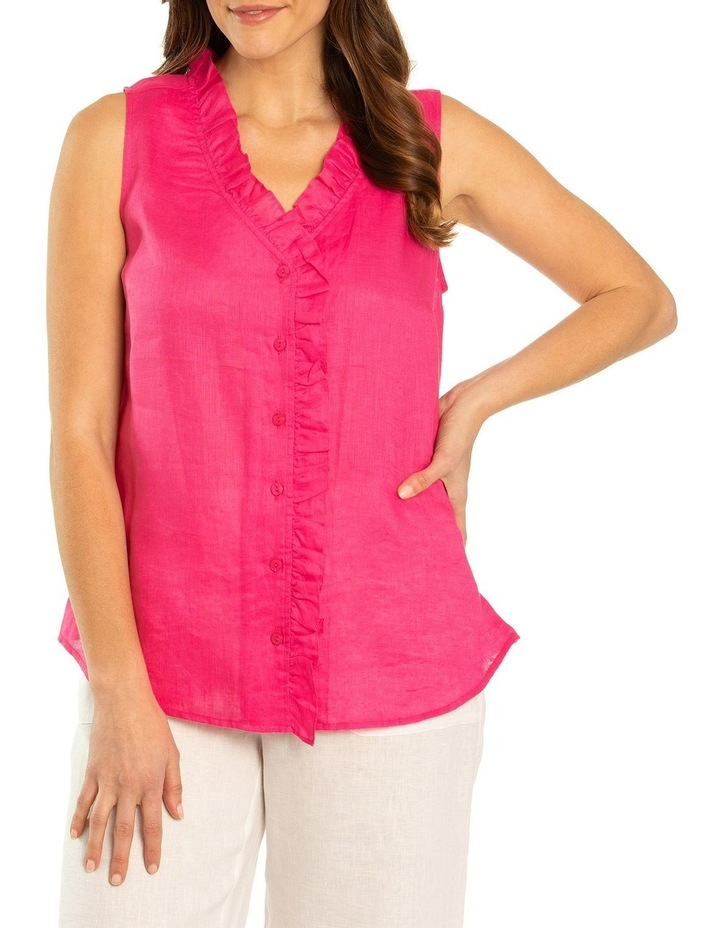 Sleeveless Ruffle Front Top image 1
