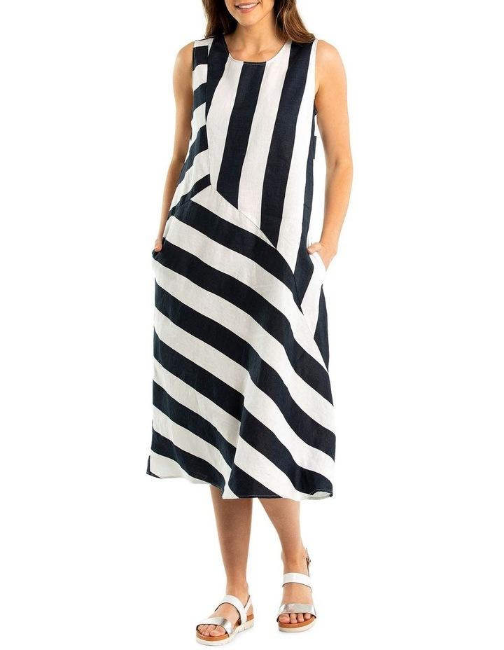 Sleeveless Stripe Dress image 1