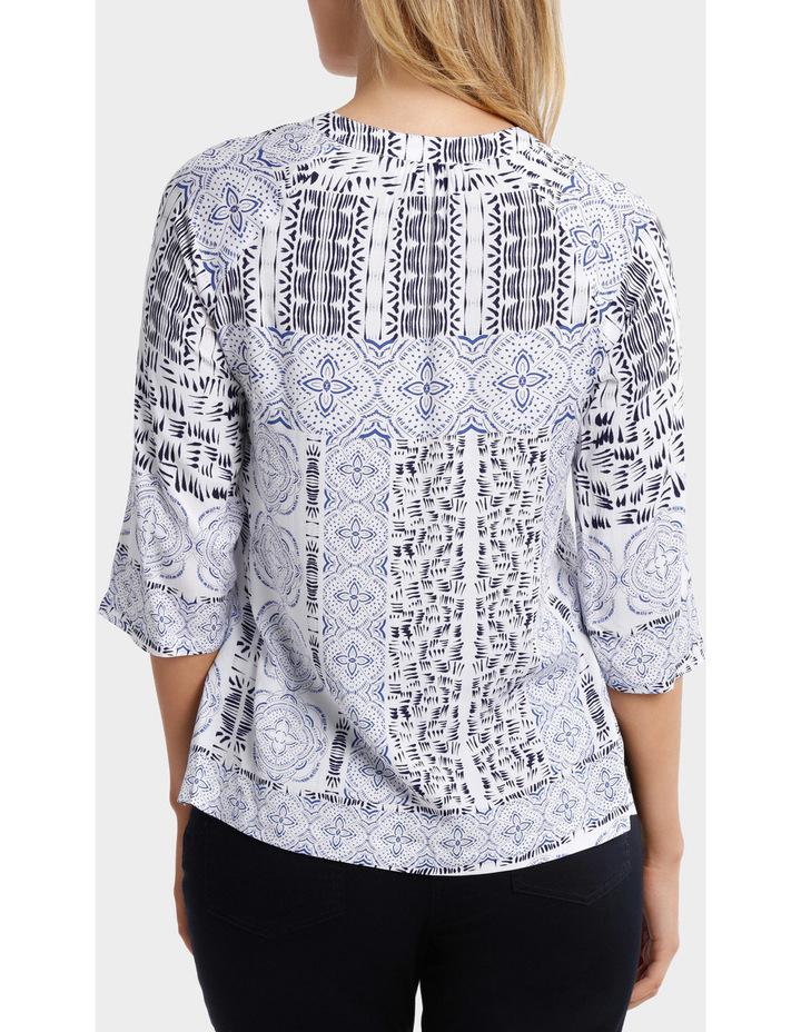 3/4 Sleeve Lisbon Print Shirt image 3