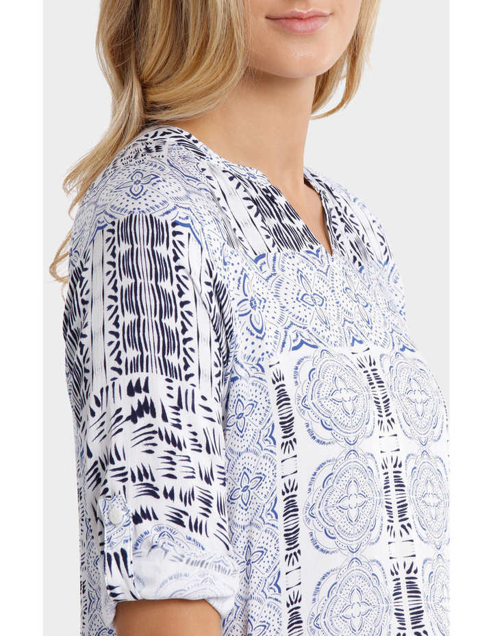 3/4 Sleeve Lisbon Print Shirt image 4
