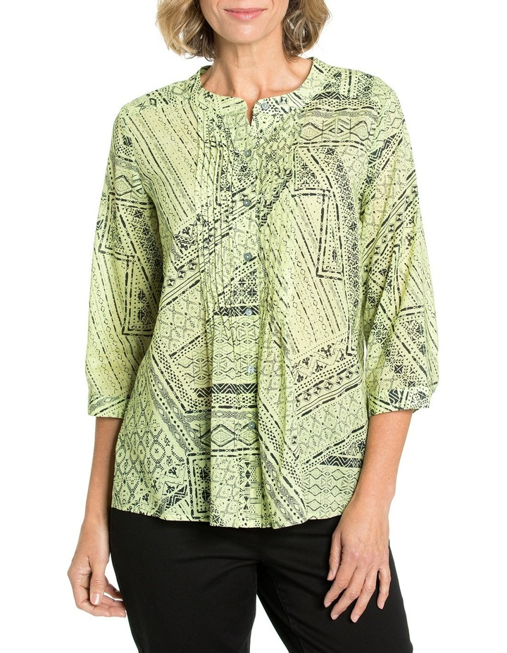 3/4 Sleeve Pintuck Shirt image 1