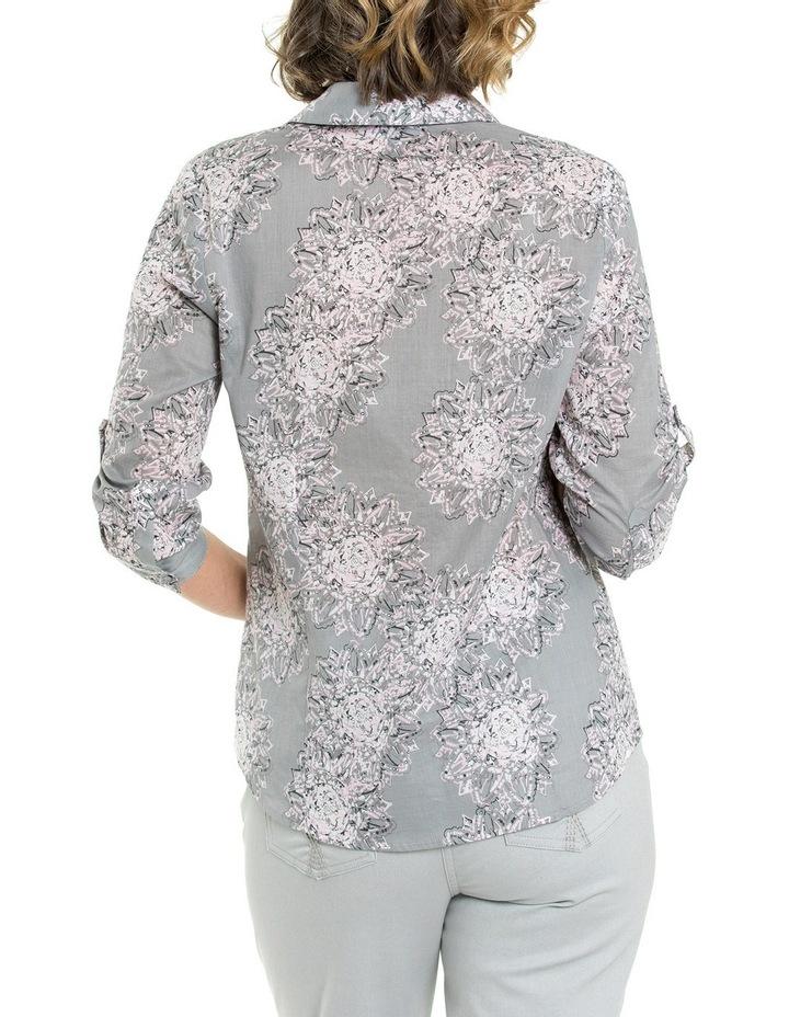 3/4 Sleeve Mandala Print Shirt image 2
