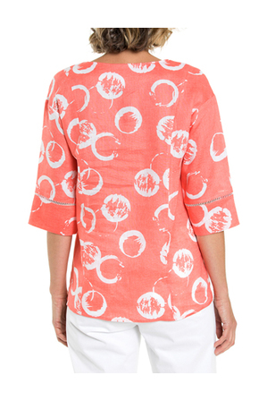 Yarra Trail Petites - Rings Print Shirt