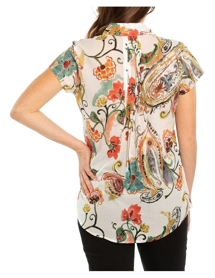 Flourish Print Pintuck Shirt image 2