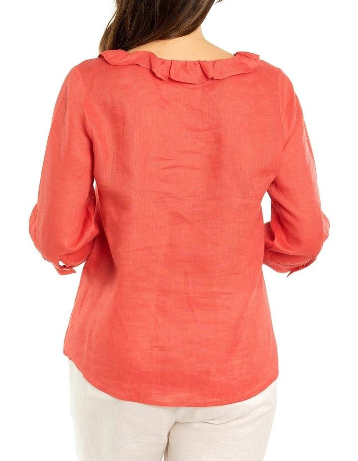 Ruffle Linen Shirt image 2