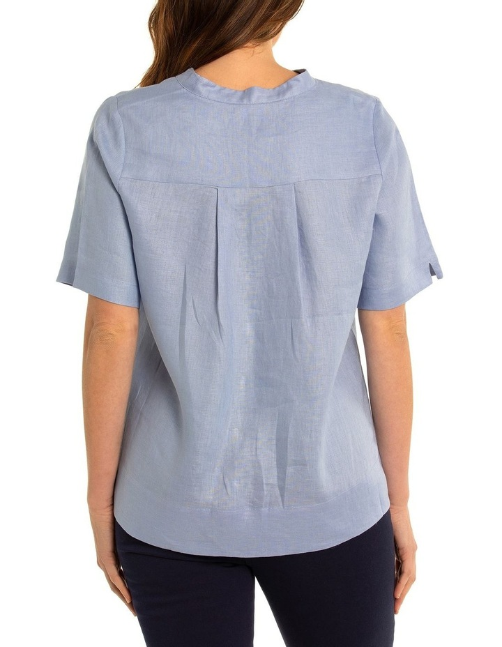 Short Sleeve Boxy Linen Shirt image 2