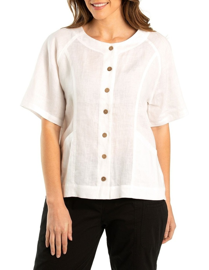 Paneled Linen Shirt image 1