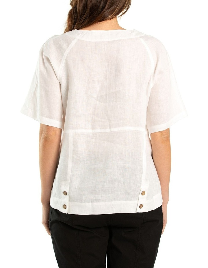 Paneled Linen Shirt image 2