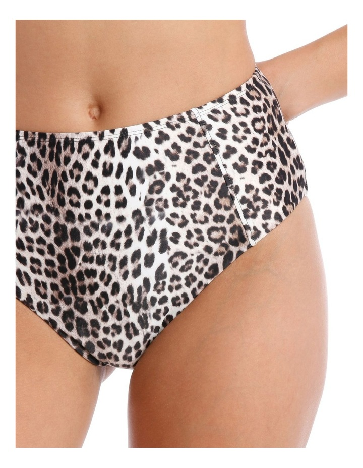 High Waisted Bottom in Leopard Print image 3
