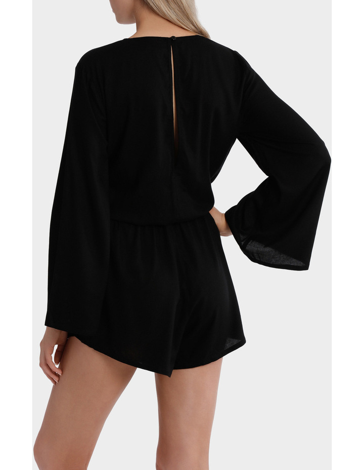 Lace Up Bell Sleeve Playsuit image 2