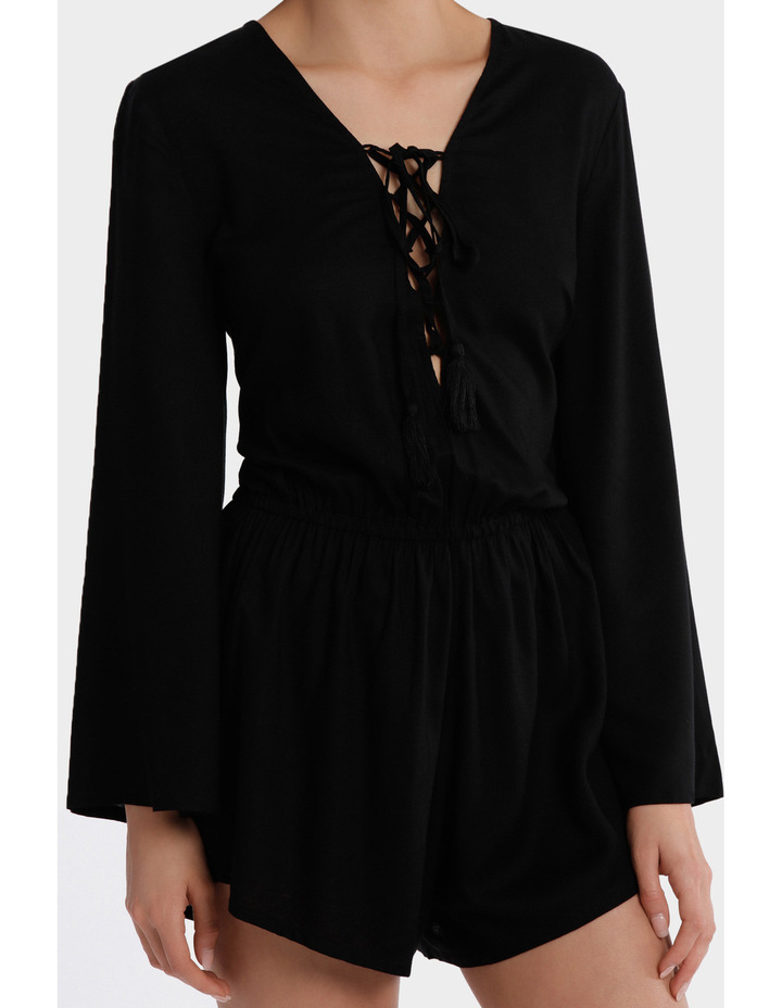 Lace Up Bell Sleeve Playsuit image 3