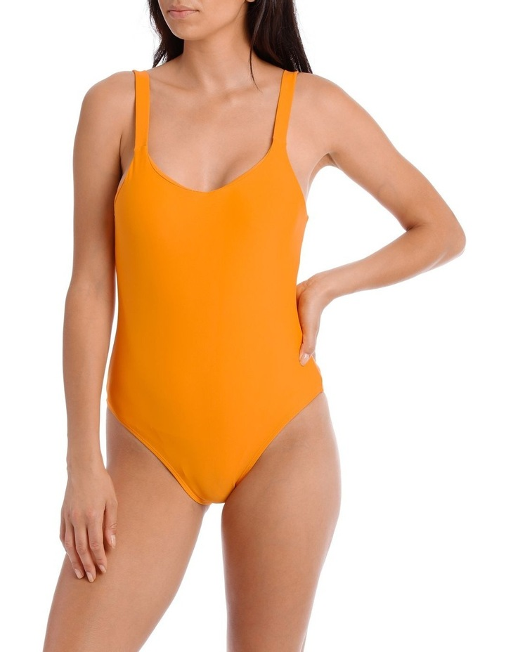 One Piece with Round Neck and Low Scoop Back image 1