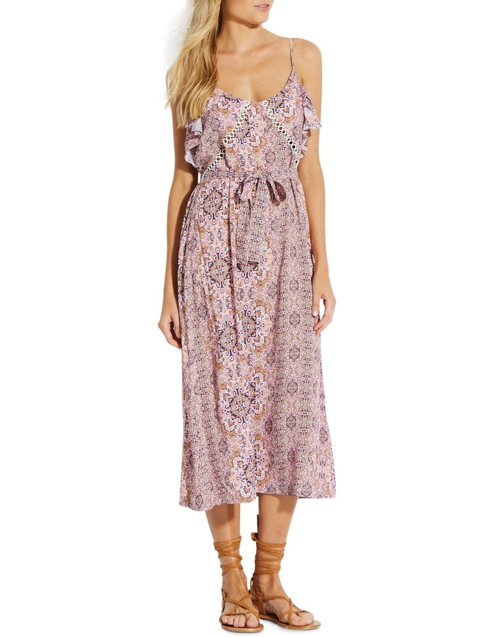 Water Garden Boho Tile Midi Dress image 1