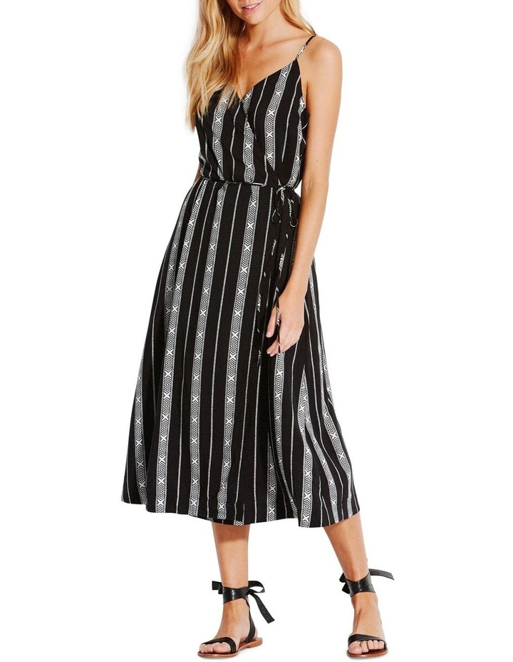 Lattice Stripe Wrap Dress image 1