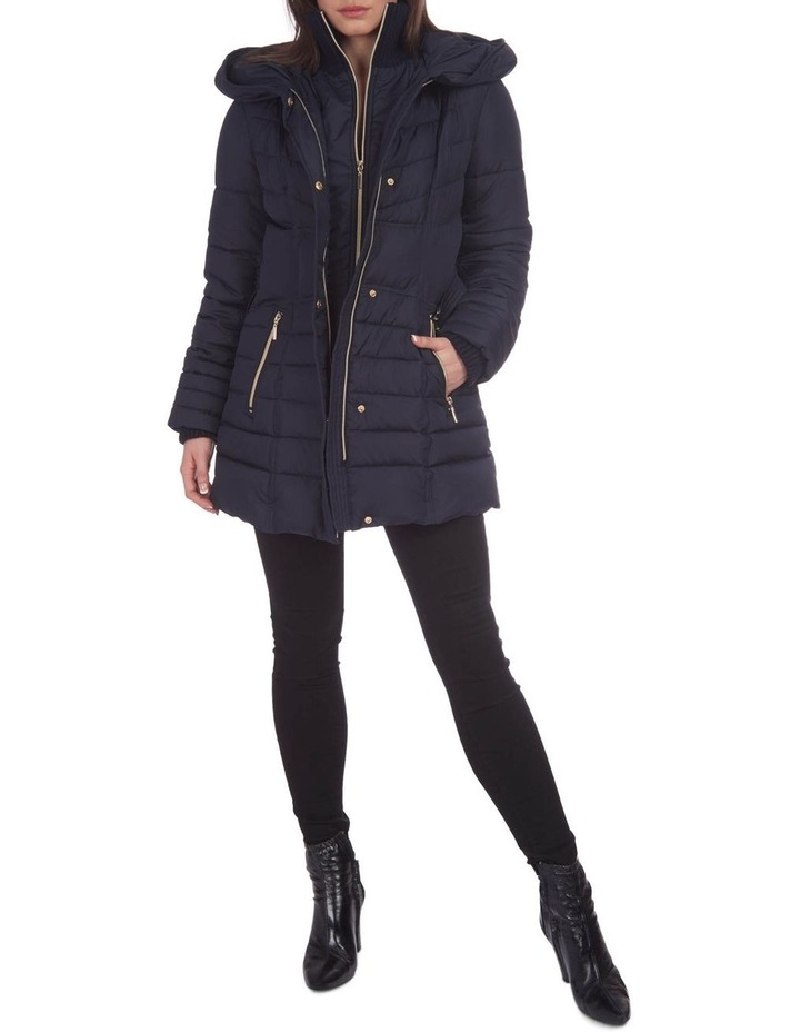 Belted Puffer Jacket image 1