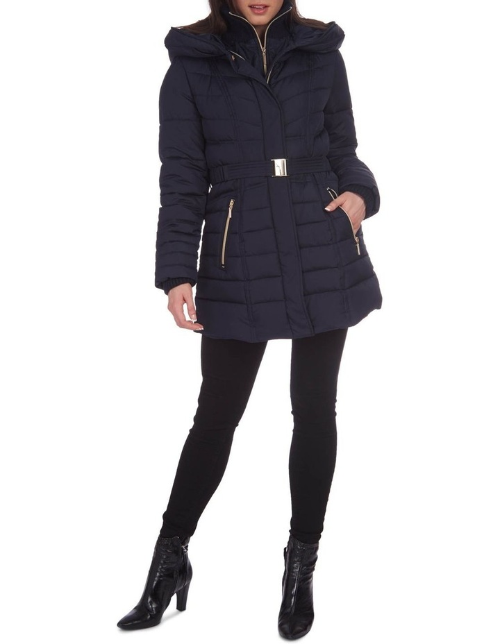 Belted Puffer Jacket image 2