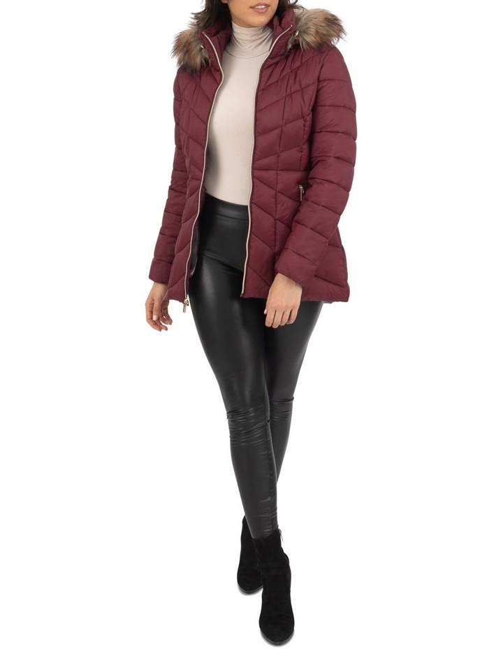 Longline Puffer With Fur image 3