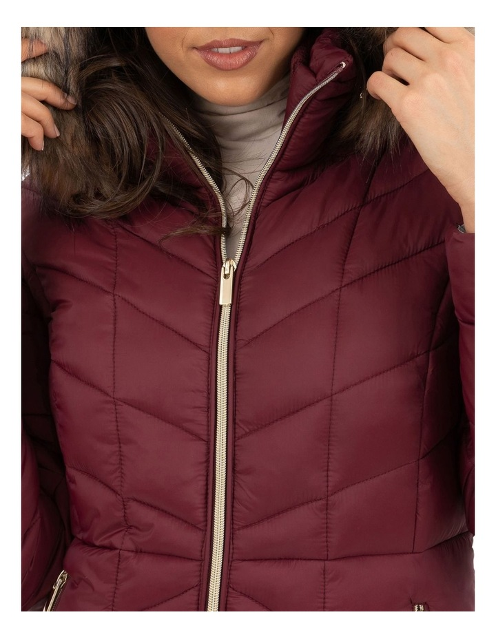 Longline Puffer With Fur image 4