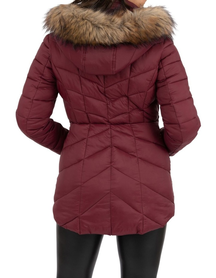Longline Puffer With Fur image 5
