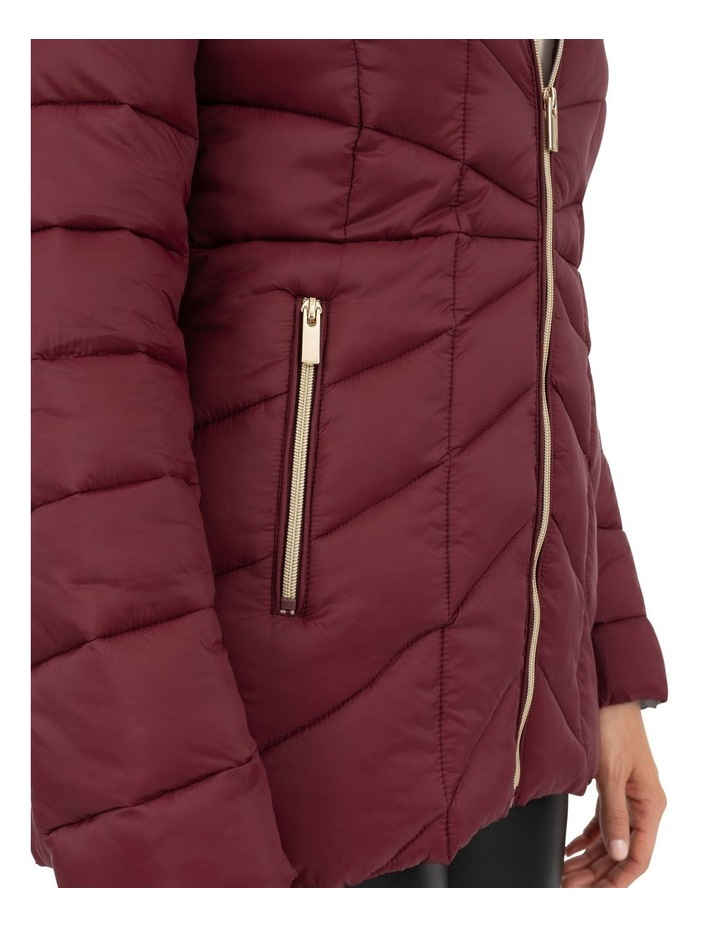 Longline Puffer With Fur image 6