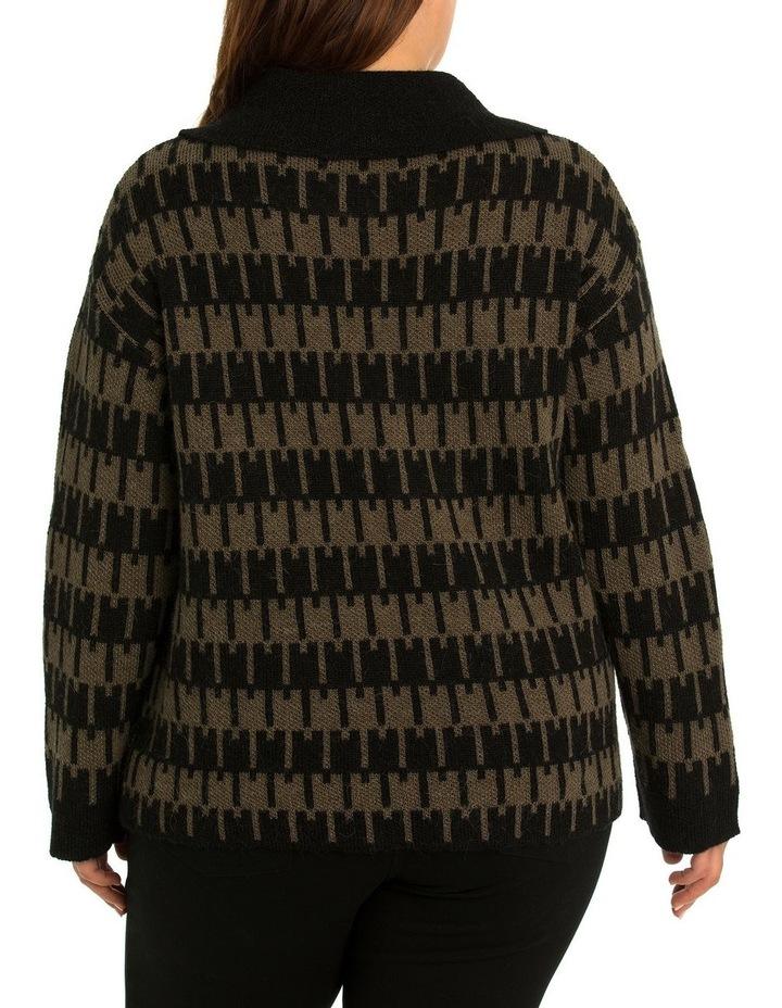 Jacquard Knit Cardi image 2