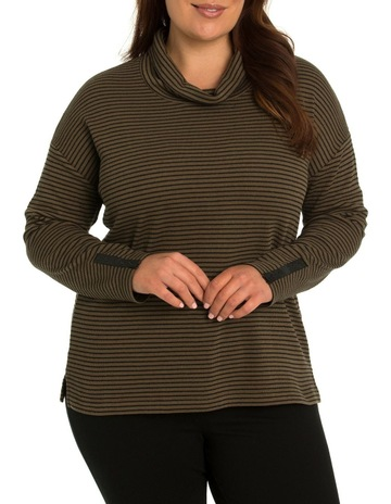 606d779c921 Yarra Trail Woman Tucked Stripe Top