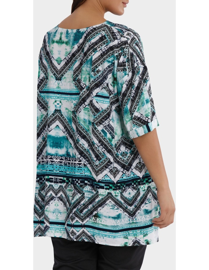 Short Sleeve Matrix Print Overshirt image 3