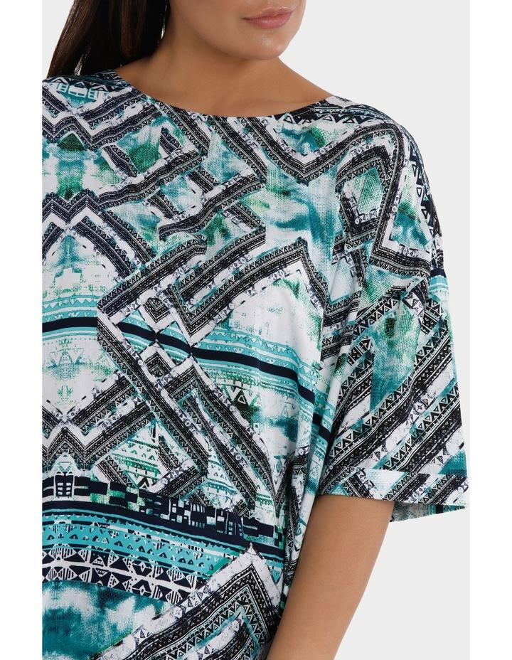 Short Sleeve Matrix Print Overshirt image 4
