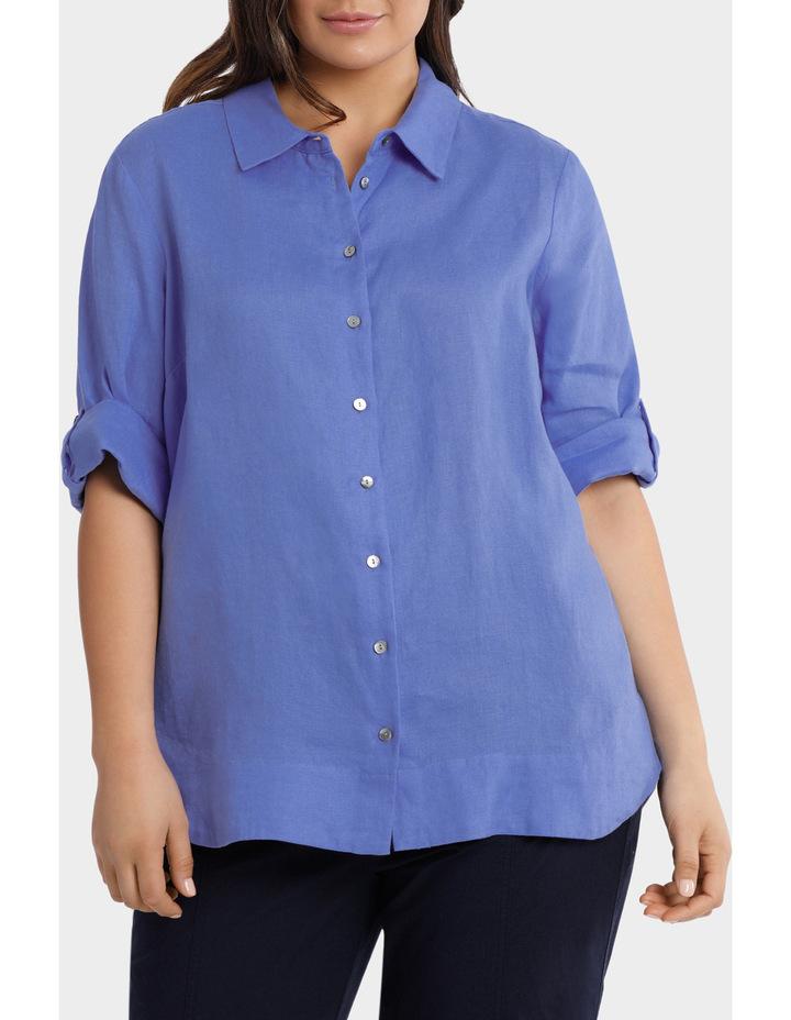 3/4 Tab Sleeve Linen Shirt image 1