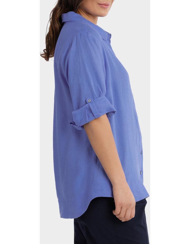 3/4 Tab Sleeve Linen Shirt image 2
