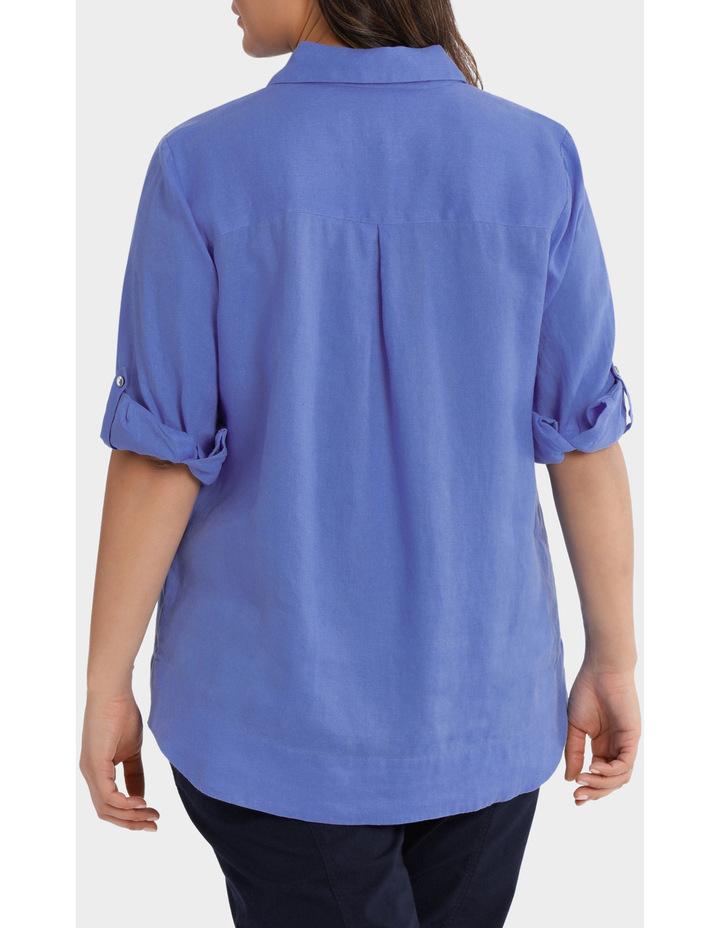 3/4 Tab Sleeve Linen Shirt image 3