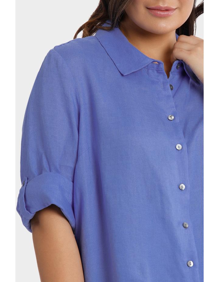 3/4 Tab Sleeve Linen Shirt image 4