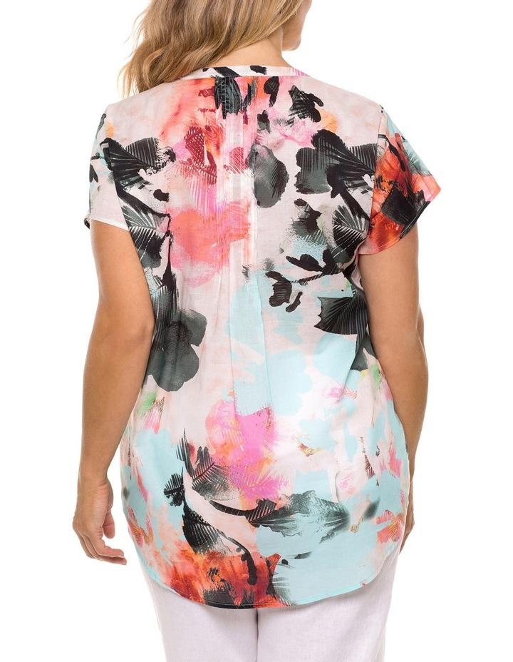 Cap Sleeve Palm Print Shirt image 2