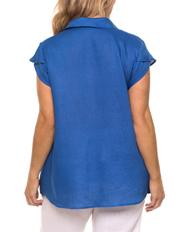 Yarra Trail Woman - Short Sleeve Linen Shirt