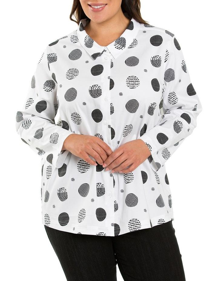 Curved Hem Print Shirt image 1