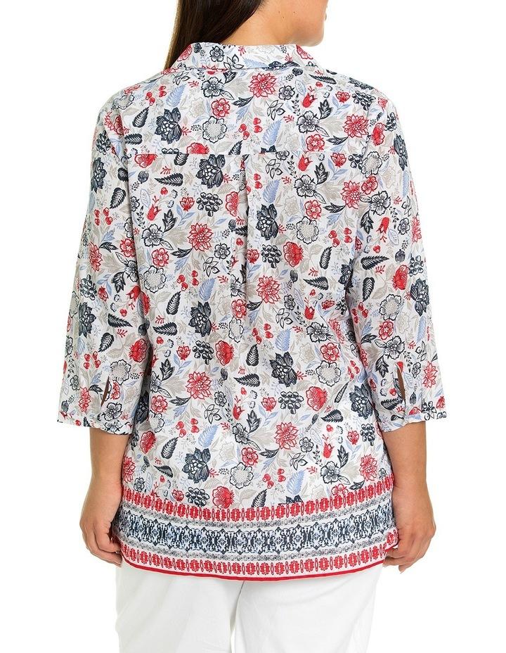3/4 Sleeve Pintuck Print Shirt image 2