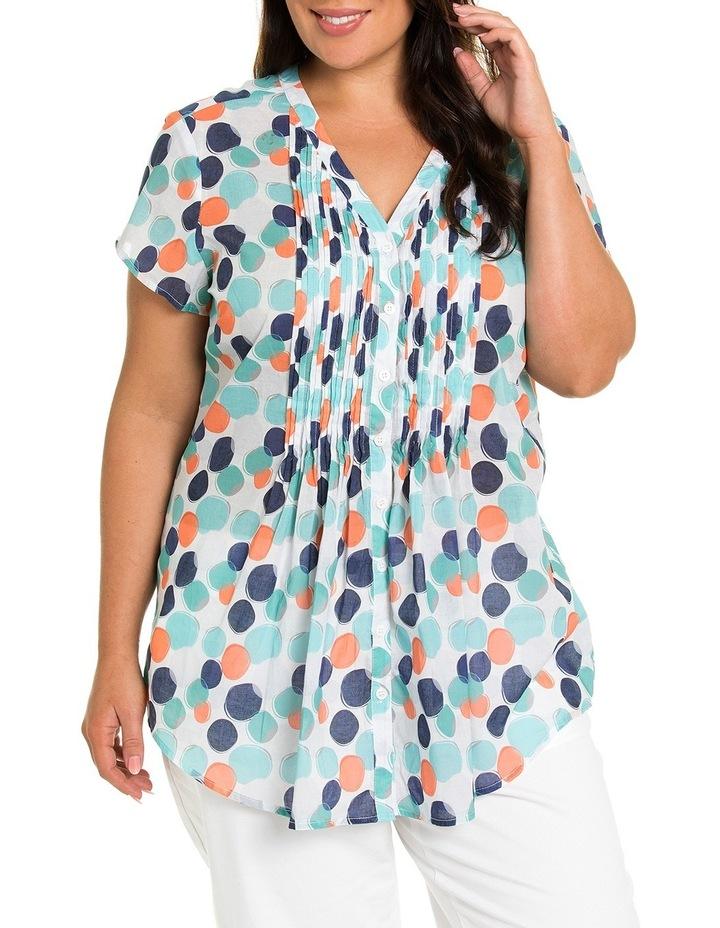 Short Sleeve Blended Spot Print Shirt image 1