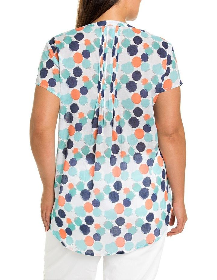 Short Sleeve Blended Spot Print Shirt image 2