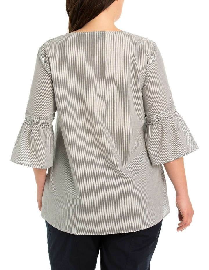 Flare Sleeve Stripe Blouse image 2
