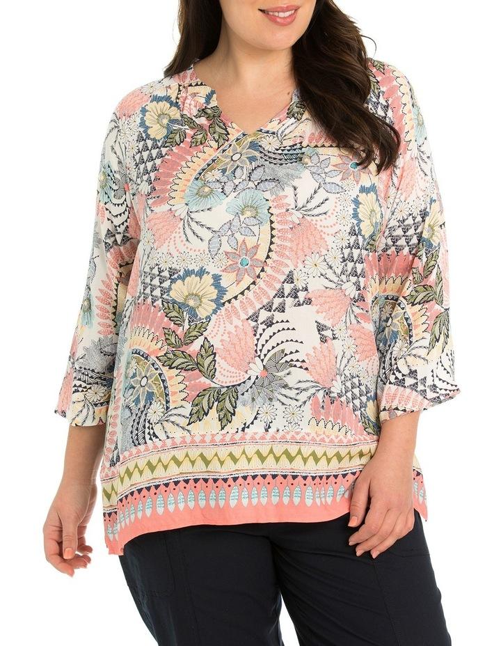 3/4 Sleeve Wildflower Print Shirt image 1